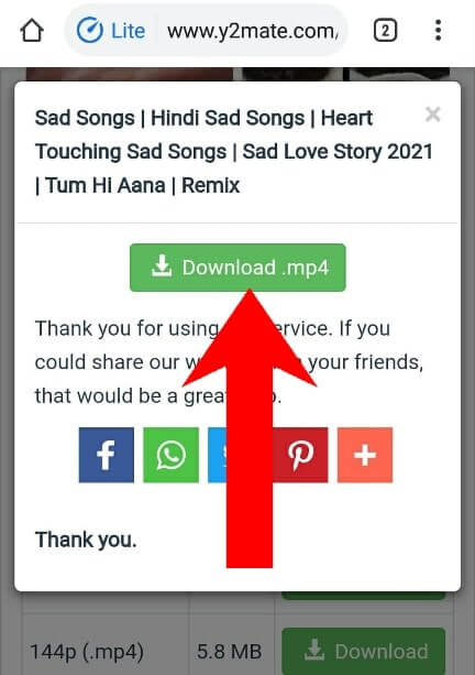Y2mate Se Youtube Video Kaise Download Kare 2