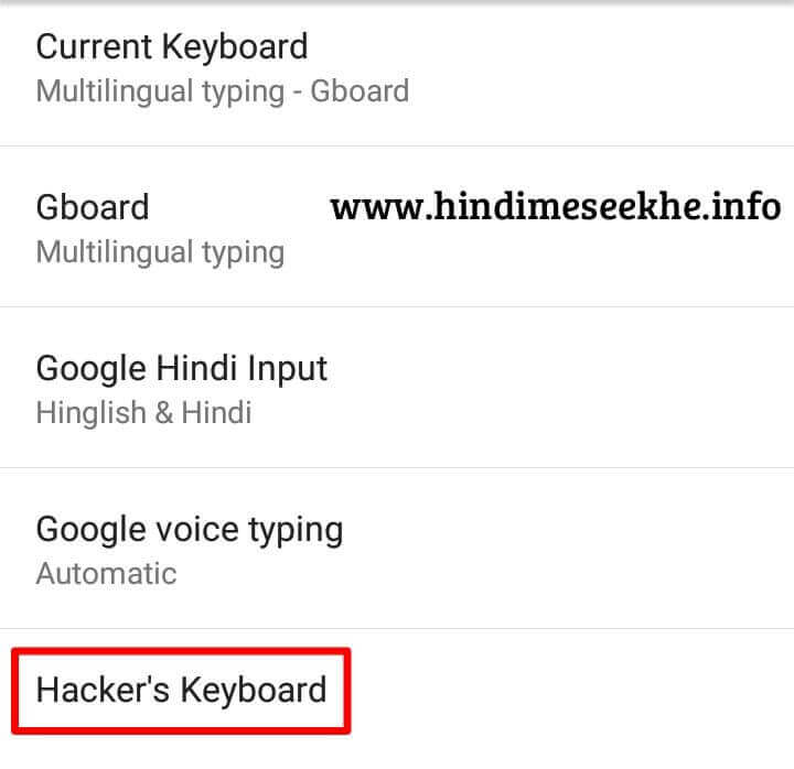 Phone Setting Language And Input Hacker Keyboard